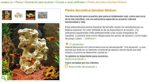 decoración de acuarios marino y tropical