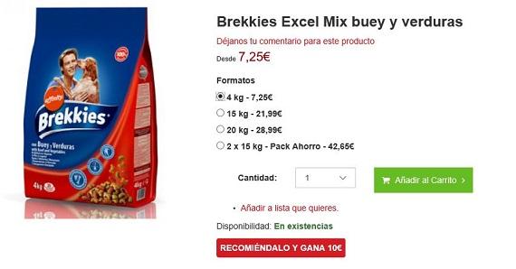Brekkies excel precios