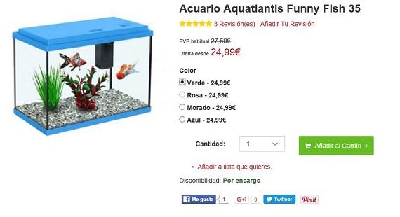 Acuarios baratos precios de los acuarios nano y marinos for Acuarios baratos