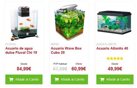 Acuarios baratos precios de los acuarios nano y marinos for Acuarios pequenos