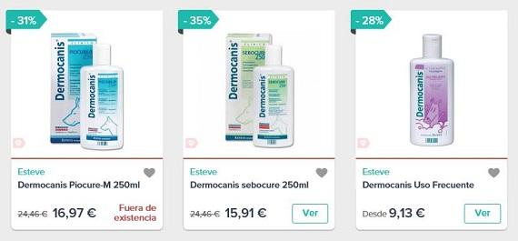 champús dermatológicos precios