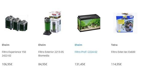 filtros para acuarios de 100 litros