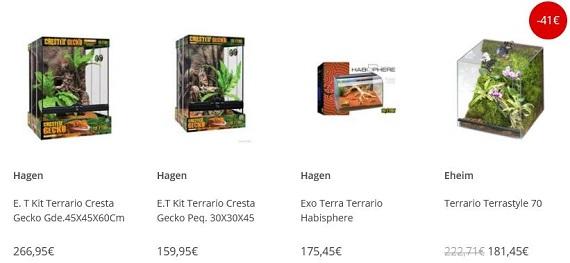 terrarios precios