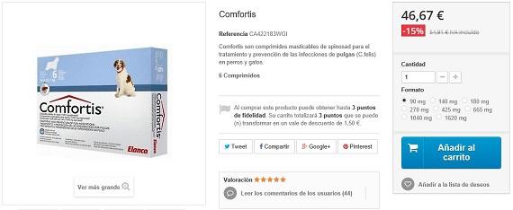 comfortis precios