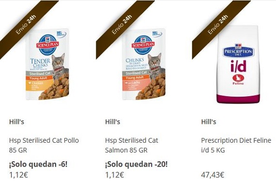 outlet productos para gatos