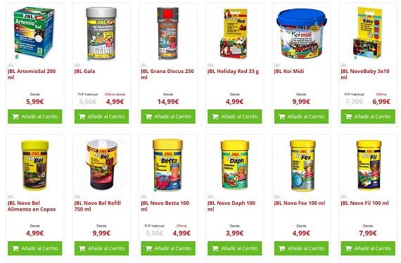 comida para peces precio