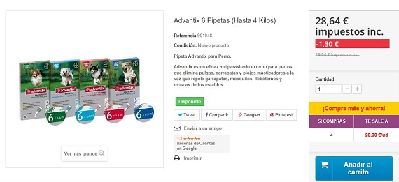 pipetas advantix ofertas