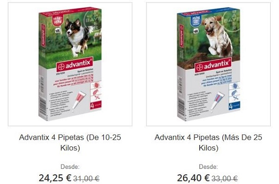 pipetas advantix online