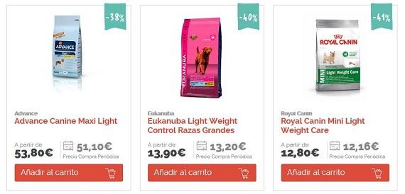 comida para perros con sobrepeso barato