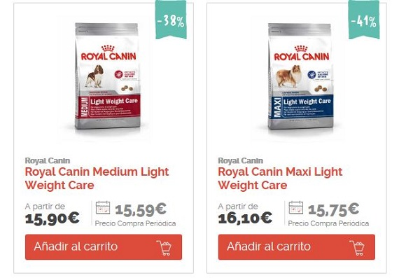 comida para perros con sobrepeso royal canin