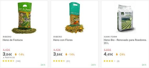 Heno para hámster online: precio barato, aromático y con diente de león