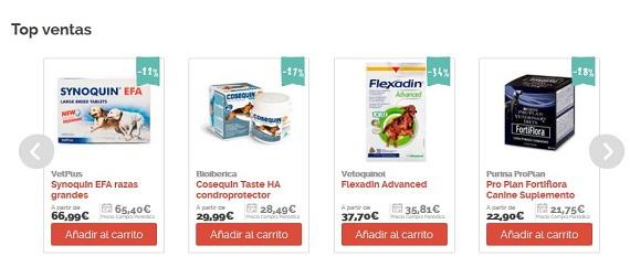 suplementos nutricionales para perros online