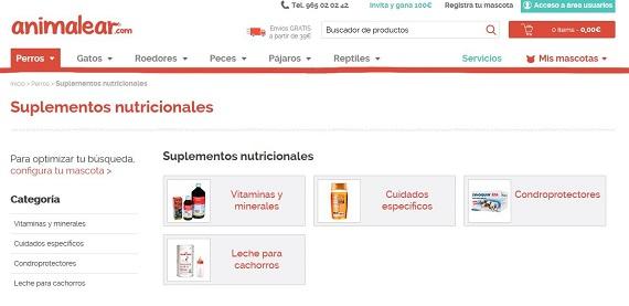 Suplementos nutricionales para perros baratos online: vitaminas y Omega