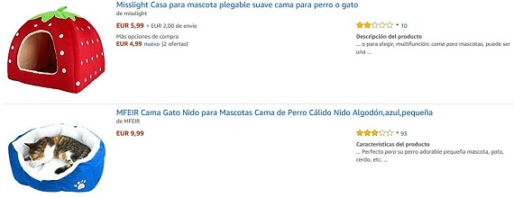 camas para gatos amazon