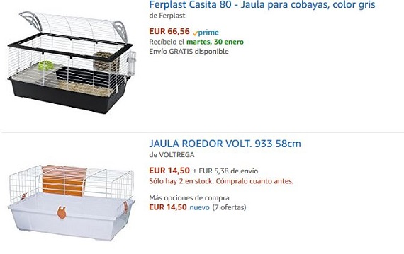 Jaulas Baratas Amazon