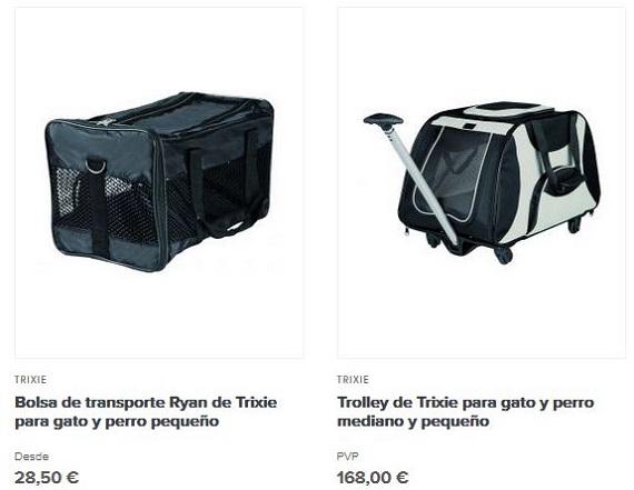 mochilas para perris medianos y grandes