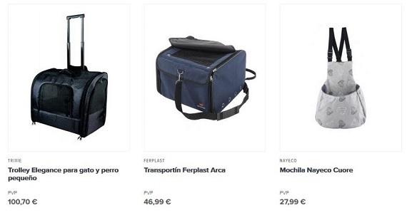 mochilas para perros